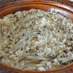 鶏ミンチと牛蒡と舞茸の炊き込みご飯を作ってみた!|土鍋レシピ