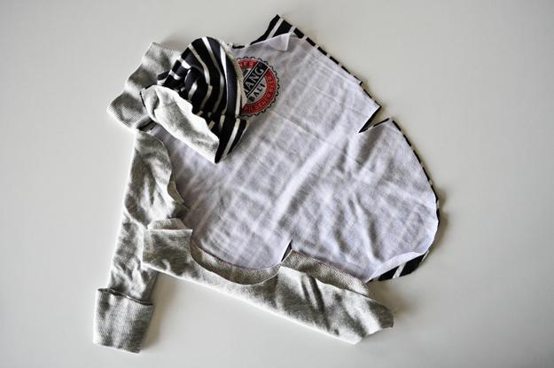 「新作」イタグレ服|春夏Tシャツにフードをつけました。