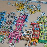 5000ピースのジグソーパズルを自宅の壁に飾ろう|開封から46日目