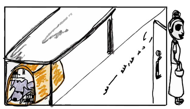 4コマ漫画「瞬間移動・・・」