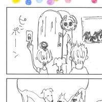 4コマ漫画「MABOELAB!」幸せを呼ぶ魔法の呪文。