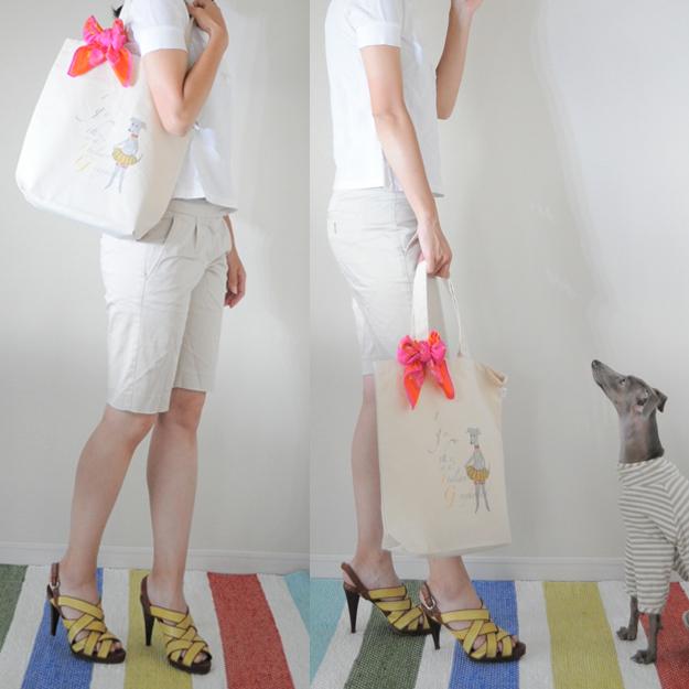イタグレをモチーフにしたオリジナルデザインの「トートバッグ」を着てみた!