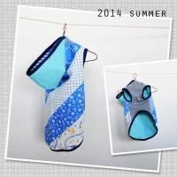 【販売開始】夏にピッタリ!アンカー|ブルーの犬服「小型犬&イタグレ|ウィペット」