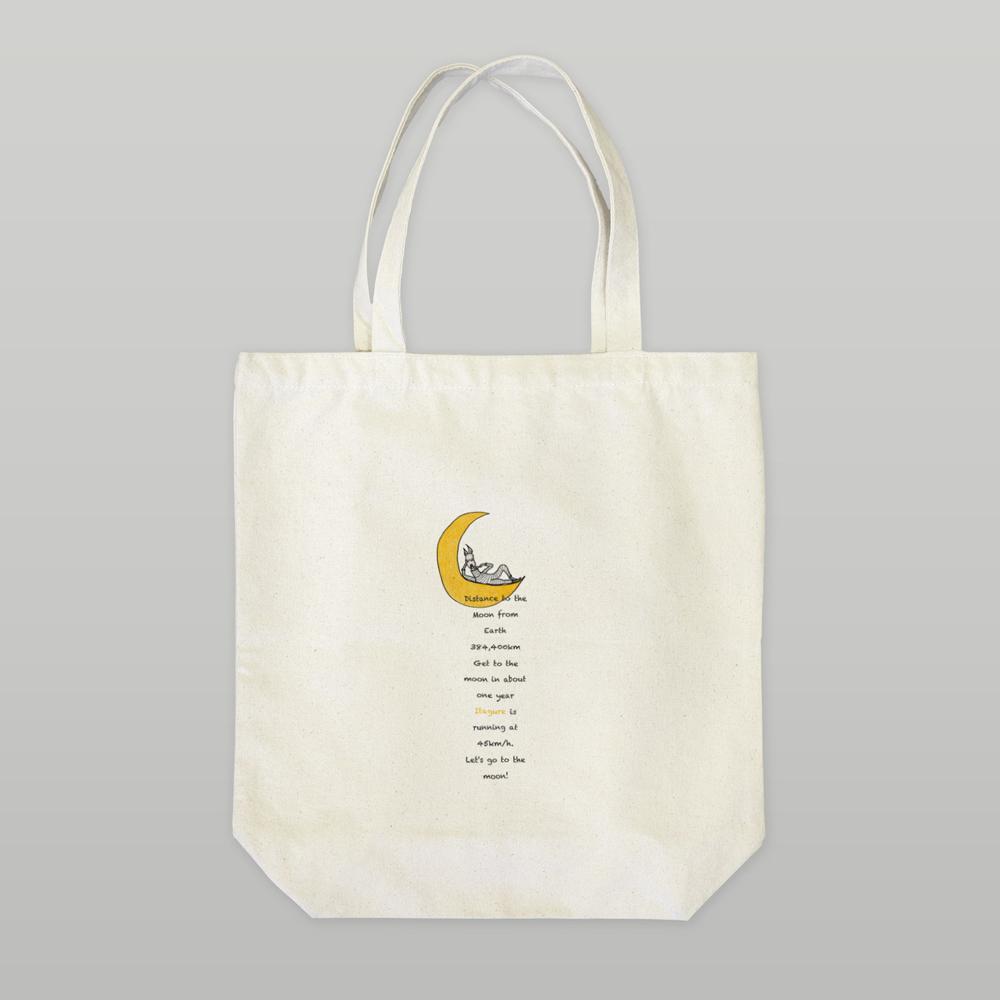 「イタグレと月」をテーマにオリジナルデザインの「Tシャツ」と「トートバッグ」を作ってみた!