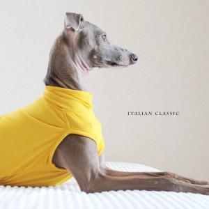 犬服|Italian Classic|イタリア製ストレッチ天竺ニット|選べる4タイプ×3カラー(Blue/Gray/Yellow)