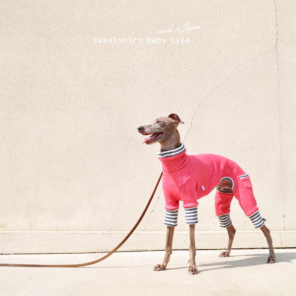 「新作犬服」人気のトレーナーシリーズにbabyタイプが登場!!|犬服|トレーナー|babyタイプ|選べる4タイプ×3カラー(ホワイト/グレイ/ピンク)