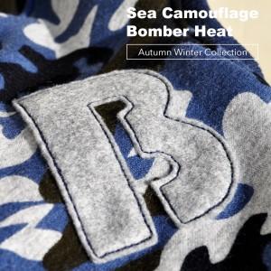 """「2015 秋冬新作犬服 """"Sea Camouflage""""」毛布に包まれたような暖かさと、優しい肌さわりのボンバーヒートニット"""