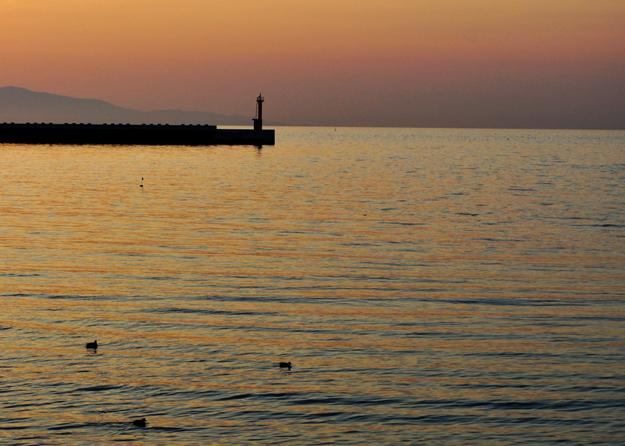 穏やかに、今日も1日終わる。「淡路島の夕焼け」