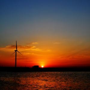 衝動|淡路島の夕焼け
