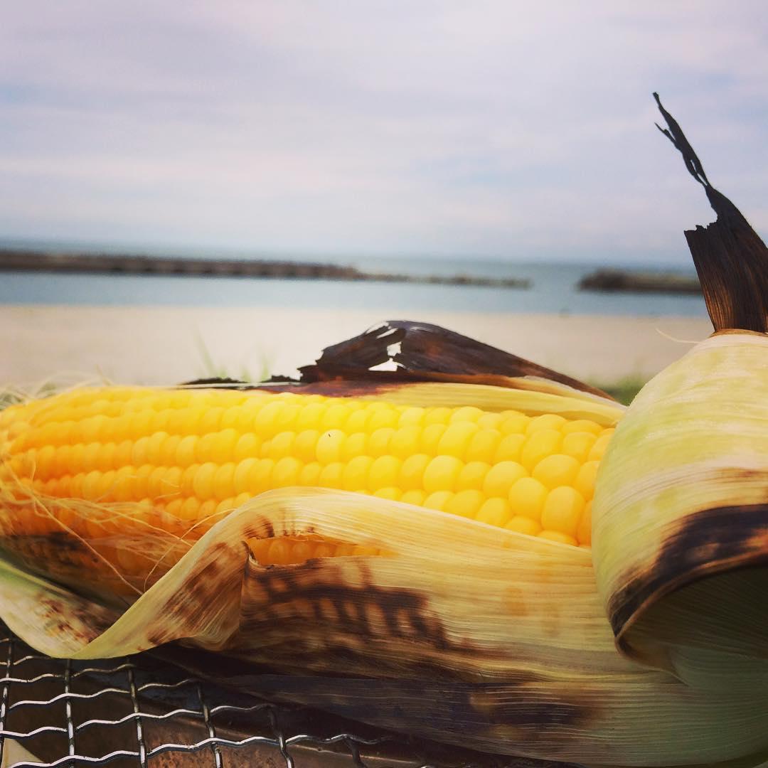 淡路島、BBQ、ビーチ、海、イタグレ、七輪、夏
