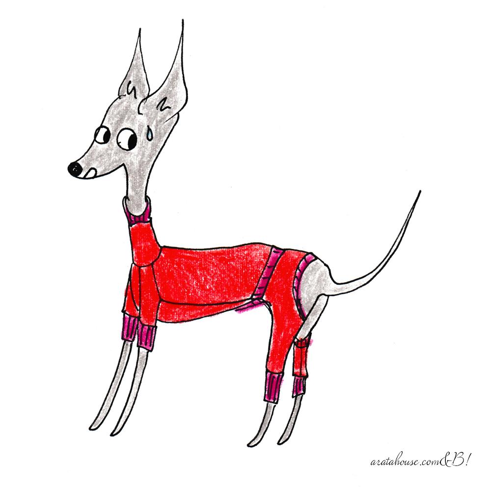 【犬服のお直し】着丈のお直しをイラストで解説「太った、痩せた」「採寸が間違ってた」「ロンパースを着せるの苦手」「デザインを変更したい」