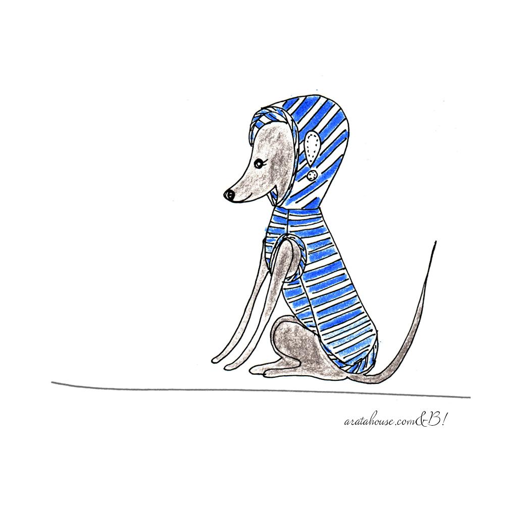 【犬服のお直し】穴が空いた時、破れた時のお直しをイラストで解説「掻いて破れた」「ジャレ合って破れた」「引っ掛けた」「縫い合わせ部分が弱くなった」