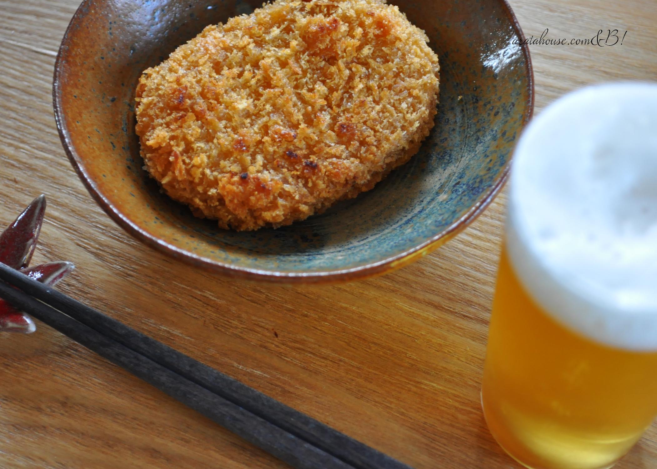 淡路島食材をふんだん使った「俺の昼飯」烏賊フライ、鯵フライ、コロッケ、レタス、白飯