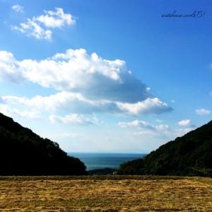 淡路島を散歩する。色んな雲。