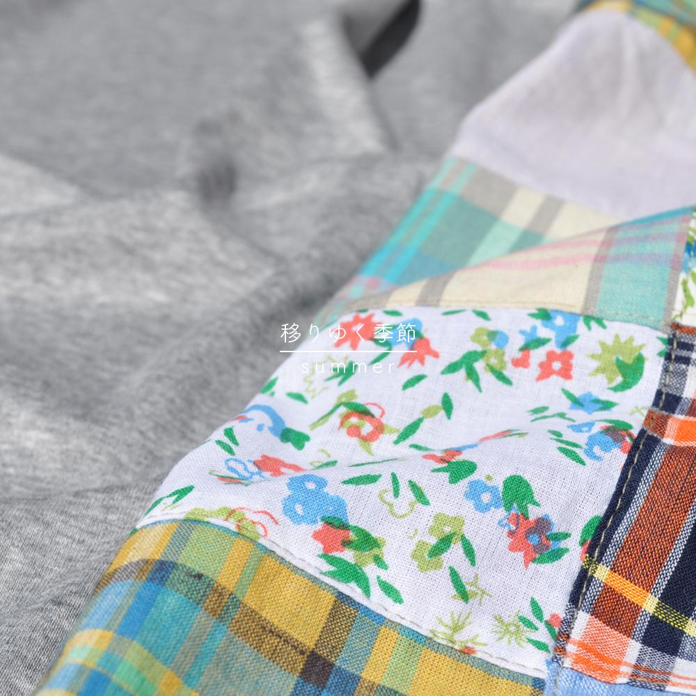 「新作犬服」春野菜が美味しい季節になりました♪移りゆく季節 -summer-|パッチワークインド綿 × 接触冷感クールマーベラス