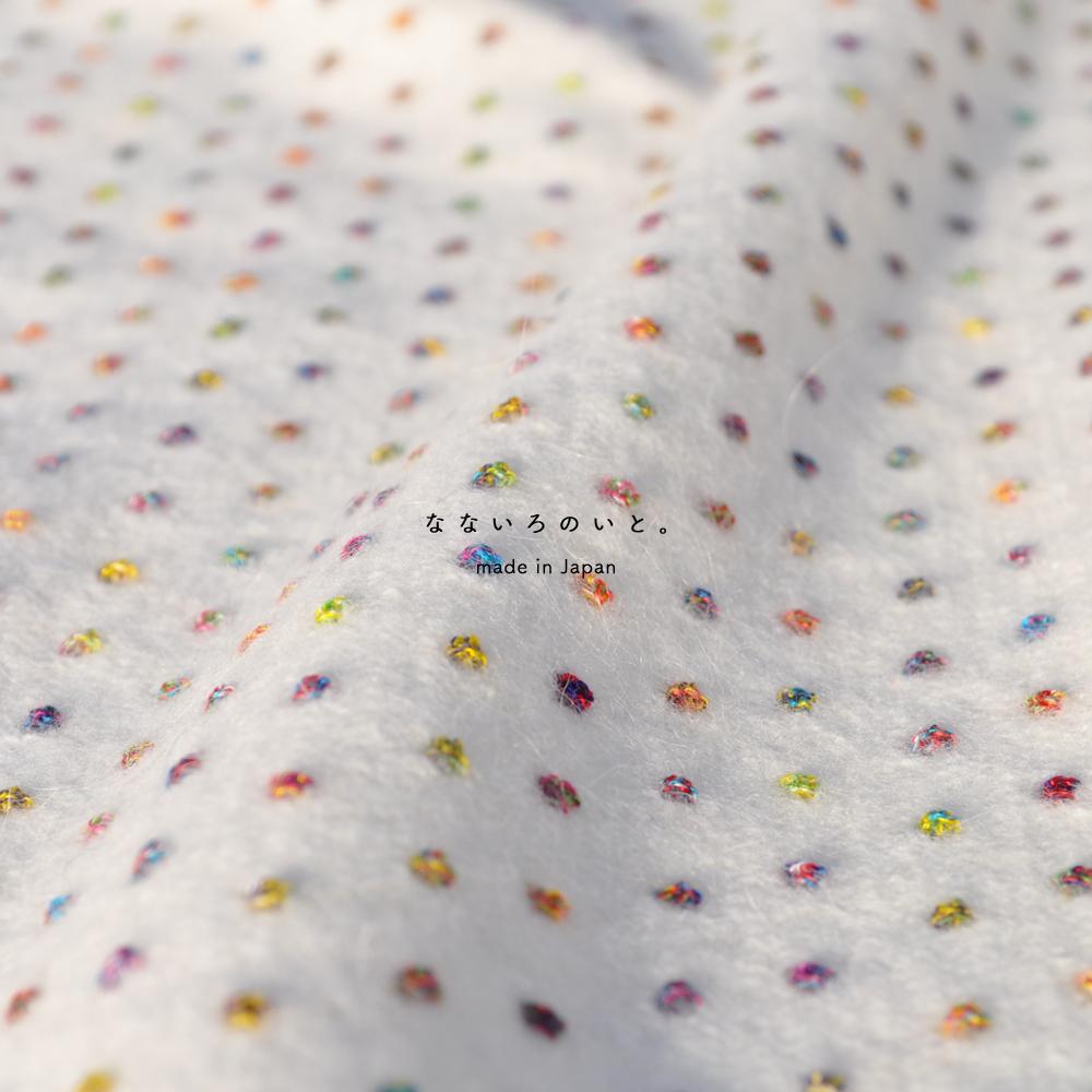 「2017.冬の新作 New color debut!」日本の暖かな色彩に包まれる「なないろのいと。|日本製アンゴラドットジャガードニット」