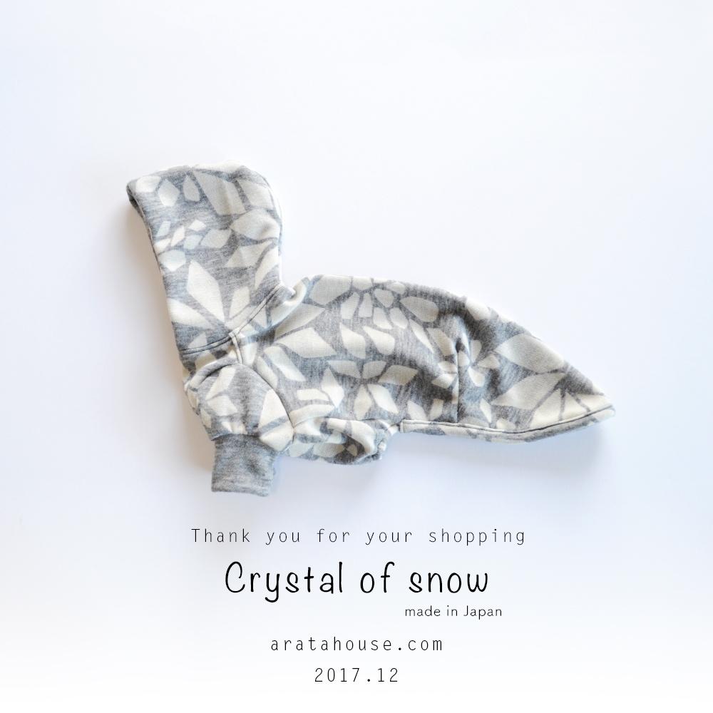 イタグレ服 冬を楽しむ 雪の結晶
