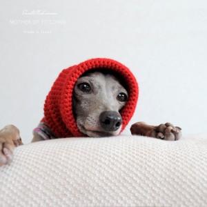 真っ赤なスヌード&ネックウォーマー|日本製ウール100%の毛糸を手編みしたSnood&Neck warmer「Mother of Yotchan」が可愛い。「年内発送可能」