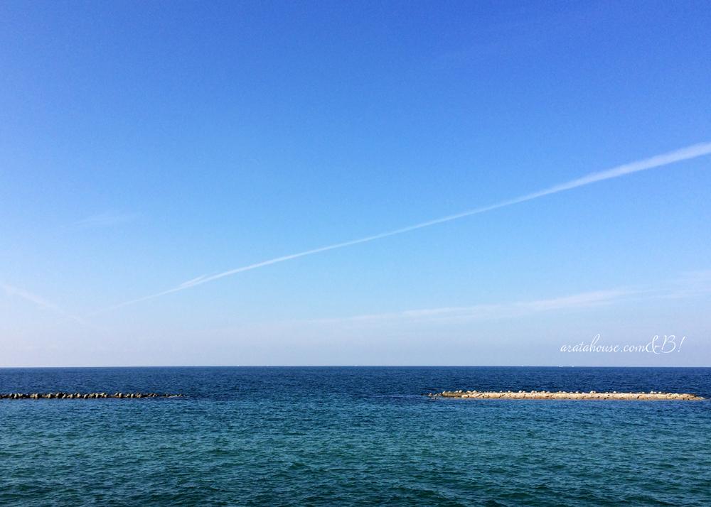 淡路島、秋の海。