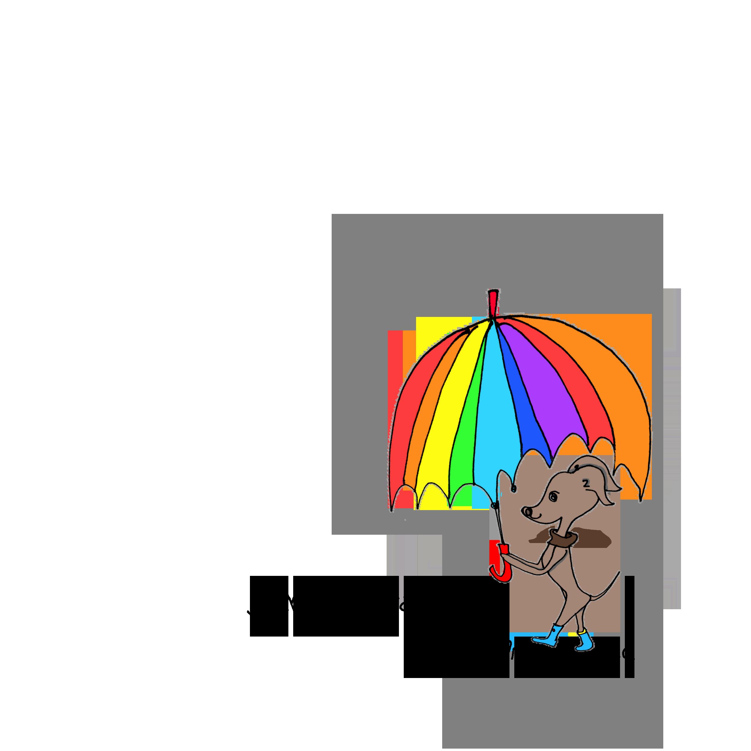 Walk in the rainy Italiangreyhound「YOSHIE.KUROIWA」